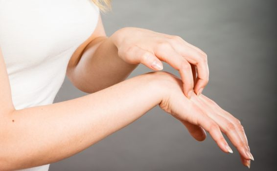 scratching skin